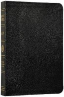 ESV Large Print Bible: Black, Genuine Leather