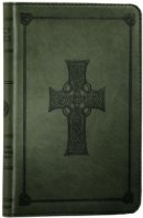 ESV Compact Celtic Cross Edition Bible: Olive, Imitation Leather