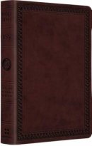 ESV Larger Print  Compact Bibles Trutone Mahog Border