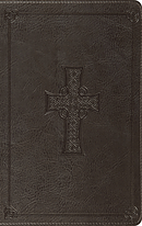 Esv Large Print Thinline Bible (Trutone, Charcoal, Celtic Cr