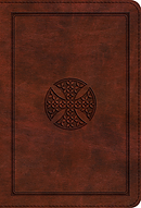 Esv Large Print Compact Bible (Trutone, Brown, Mosaic Cross