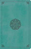 ESV Large Print Thinline Bible, TruTone, Turquoise