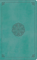 ESV Value Thinline Bible, TruTone, Turquoise, Emblem Design