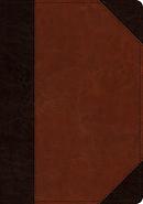 ESV Large Print Wide Margin Bible TruTone, Brown/Cordovan