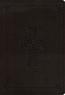 ESV Large Print Compact Bible (TruTone, Charcoal, Celtic Cross Design)