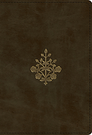 ESV Large Print Compact Bible (TruTone, Olive, Branch Design)