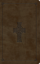 ESV Large Print Personal Size Bible (TruTone, Olive, Celtic Cross Design)