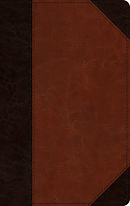 ESV Single Column Thinline Bible (TruTone, Brown/Cordovan, Portfolio Design)