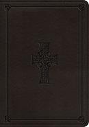 ESV Single Column Journaling Bible, Large Print (TruTone, Charcoal, Celtic Cross Design)