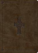 ESV MacArthur Study Bible (TruTone, Olive, Celtic Cross Design)