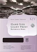 KJV Handsize Giant Print Black Genuine Leather