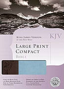 KJV Large Print Compact Bible Imitation Leather Blue and Brown