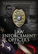 HCSB Law Enforcement Officers Bible: Black, Imitation Leather