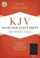 KJV Hand Size Giant Print Reference Bible - Mantova Black Simulated Leather