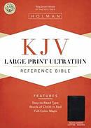 KJV Large Print Ultrathin Reference Bible: Black, Bonded Leather, Indexed