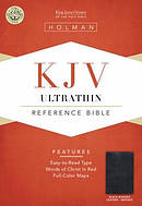 KJV Ultrathin Reference Bible: Black, Bonded Leather, Indexed