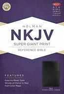 Nkjv Super Giant Print Reference Bible, Black Imitation Leather Indexe