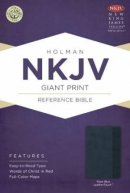Nkjv Giant Print Reference Bible, Slate Blue Leathertouch