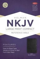 NKJV Larger Print Compact Reference Bible, Black Bonded Leather