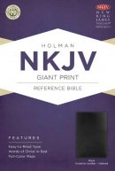 Nkjv Giant Print Reference Bible, Black Imitation Leather Indexed