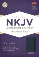 Nkjv Large Print Compact Reference Bible, Slate Blue Leathertouch