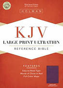 Kjv Large Print Ultrathin Referencebible, Eggplant Leathertouch