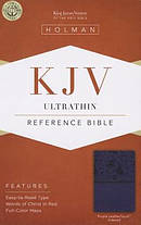 Kjv Ultrathin Reference Bible, Purple Leathertouch Indexed
