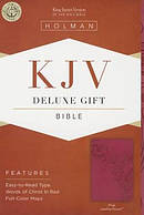 Kjv Deluxe Gift Bible, Pink Leathertouch