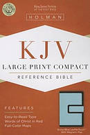 Kjv Large Print Compact Bible, Brown/blue Leathertouch With Magnetic F