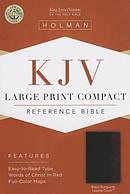 Kjv Large Print Compact Bible, Black/burgundy Leathertouch