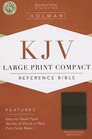Kjv Large Print Compact Bible, Brown/chocolate Leathertouch
