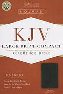 KJV Large Print Compact Bible, Charcoal Imitation Leather