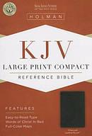 KJV Large Print Compact Bible, Charcoal Imitation Leather