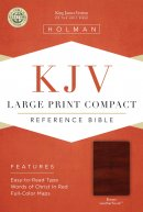 KJV Large Print Compact Bible, Brown Leathertouch