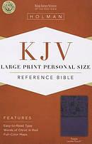 KJV Large Print Personal Size Bible, Purple Imitation Leather