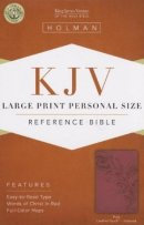 Kjv Large Print Personal Size Bible, Pink Leathertouch Indexed