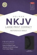 NKJV Compact Reference Bible, Charcoal Imitation Leather