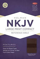 NKJV Compact Reference Bible Brown Imitation Leather