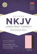 Nkjv Large Print Compact Reference Bible, Pink/brown Leathertouch