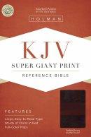 KJV Super Giant Print Reference Bible, Saddle Brown Leathert