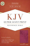 KJV Super Giant Print Reference Bible, Pink, Indexed