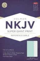 NKJV Super Giant Print Reference Bible, Mint Green Leatherto