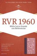 RVR 1960 Biblia Letra Grande con Referencias, borravino/rosa