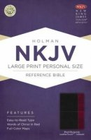 Nkjv Large Print Personal Size Reference Bible, Black/burgundy Leather