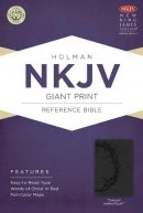 Nkjv Giant Print Reference Bible, Charcoal Leathertouch