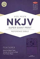 NKJV Super Giant Print Reference Bible, Purple Leathertouch