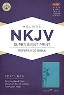 Nkjv Super Giant Print Reference Bible, Teal Leathertouch Indexed