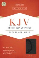 Kjv Super Giant Print Reference Bible, Charcoal Leathertouch Indexed