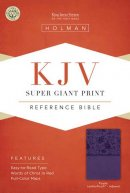 Kjv Super Giant Print Reference Bible, Purple Leathertouch Indexed