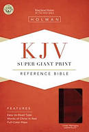 Kjv Super Giant Print Reference Bible, Classic Mahogany Leathertouch